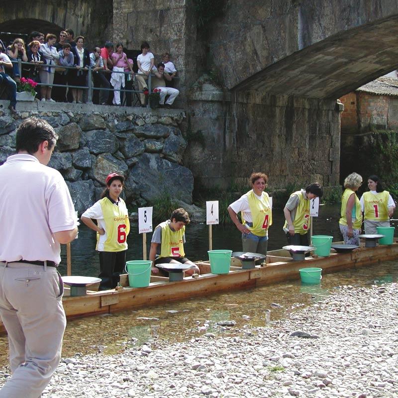 Campeonato nacional del Bateo del Oro en Navelgas